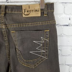 FERRINI | straight leg brown wash jeans